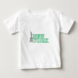 green statue of liberty art baby T-Shirt