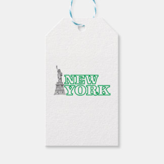 green statue of liberty art gift tags