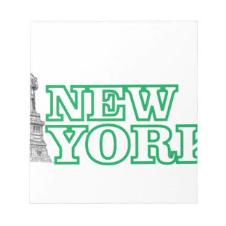 green statue of liberty art notepad