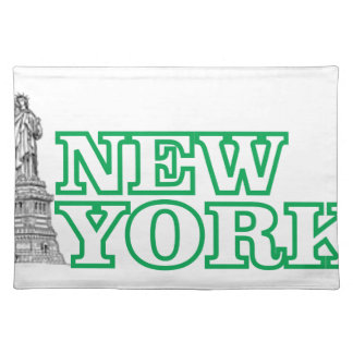 green statue of liberty art placemat