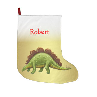 Green Stegosaurus Dinosaur Christmas Stocking