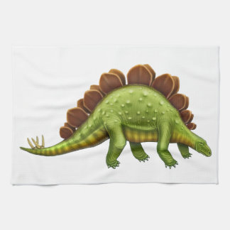 Green Stegosaurus Dinosaur Kitchen Towel