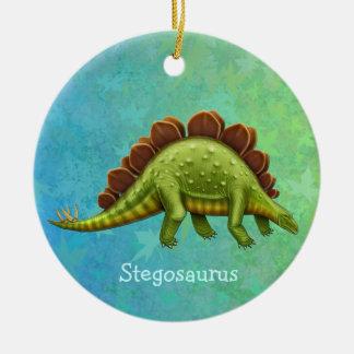Green Stegosaurus Dinosaur Ornament