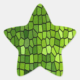 Green Stian Glass Stickers