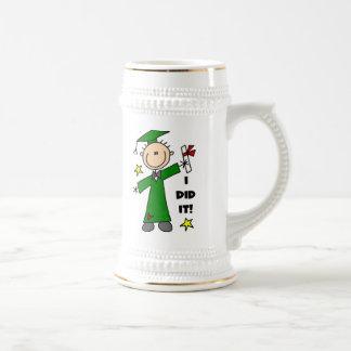 Green Stick Figure Boy Graduate Mug