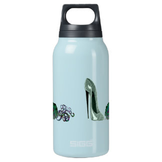 Green Stiletto Shoe and Rose Art 0.3L Insulated SIGG Thermos Water Bottle