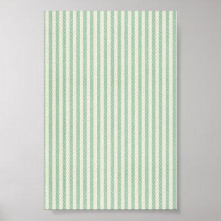 green stitched stripe print