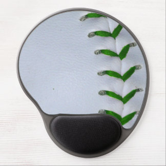 Green Stitches Baseball / Softball Gel Mouse Pad