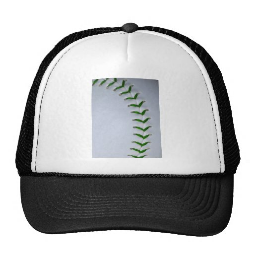 Green Stitches Baseball / Softball Mesh Hat