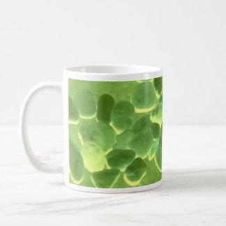Green stone mug