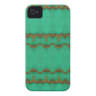 Green stone with Gold Trim Design Blackberry Cases