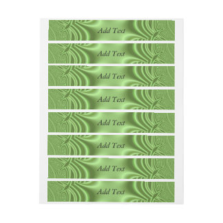 green strange pattern wraparound address label