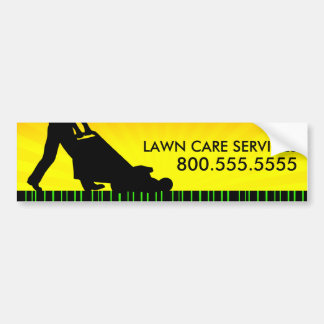 green streak lawn care services bumper sticker