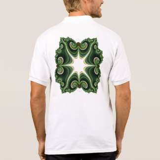 green strip gizmo polo shirt