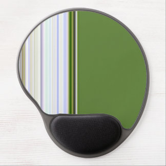 Green Stripe Accent Gel Mouse Pad