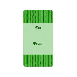 green stripe gift tag address label