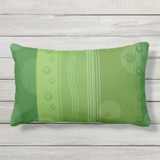 Green Stripe Modern Stylish Outdoor Cushion