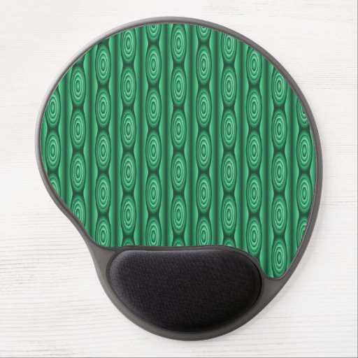 Green Stripe Pattern Abstract Gel Mouse Mat