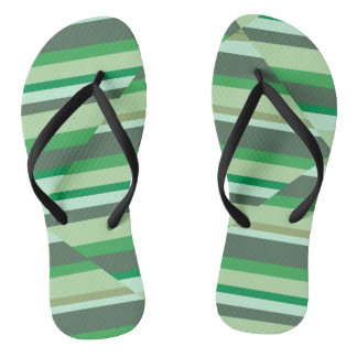 Green stripe sandals