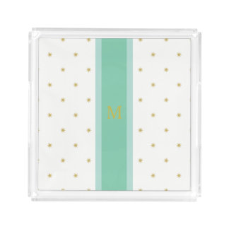 Green Stripe Stars Perfume Tray Small Personalize