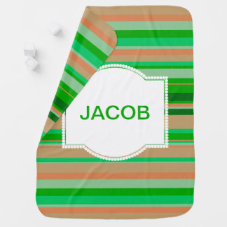 Green Striped Blanket for Baby