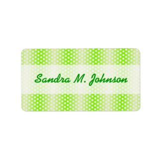 green striped pattern address label