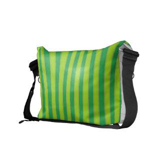 Green Striped Rickshaw Messenger Bag