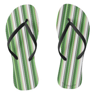 Green Striped Summer Awning Thongs