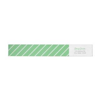 Green Striped Wraparound Address Labels Wraparound Return Address Label