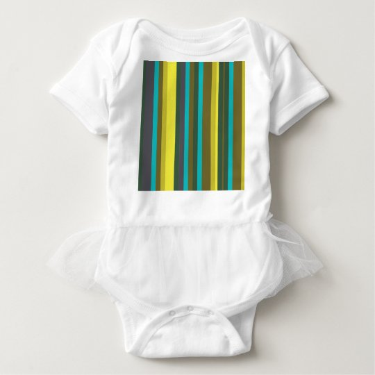 Green_stripes Baby Bodysuit