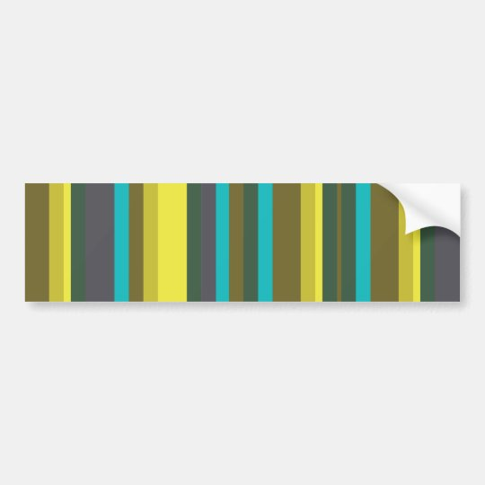 Green_stripes Bumper Sticker