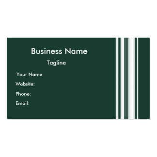 Green Stripes Business Card
