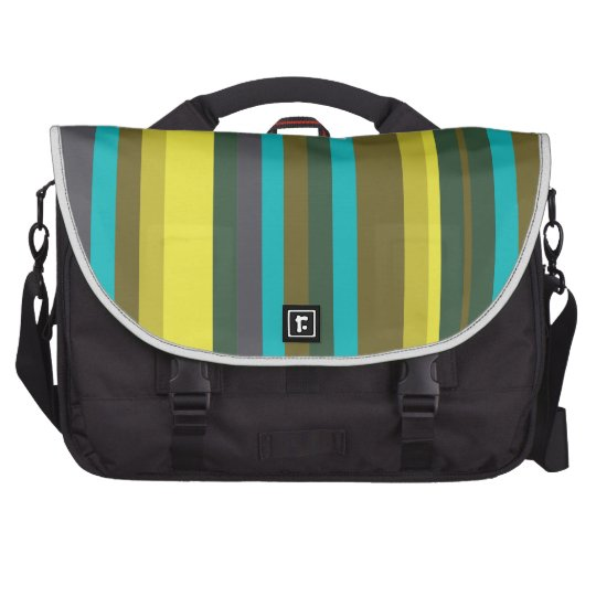Green_stripes Commuter Bag