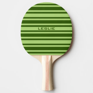 Green Stripes custom ping pong paddle