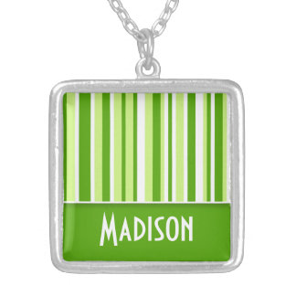 Green Stripes Cute Pendants