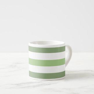 Green Stripes Horizontal Espresso  Mug Espresso Mug
