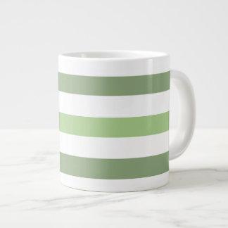 Green Stripes Horizontal Jumbo Mug