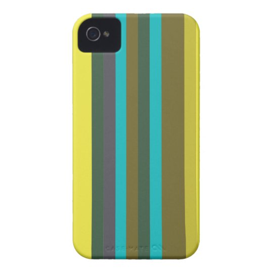 Green_stripes iPhone 4 Covers