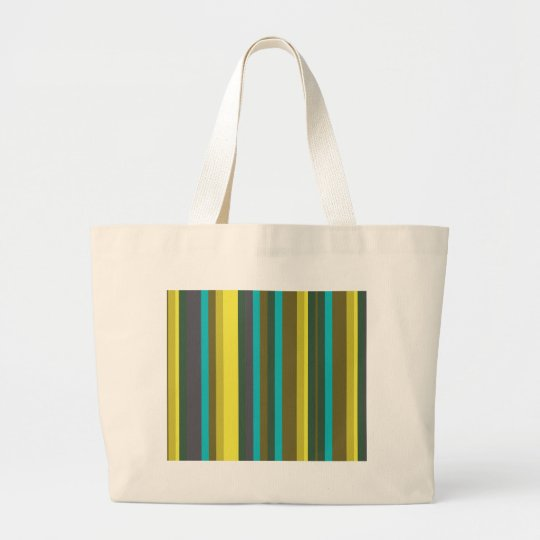 Green_stripes Large Tote Bag