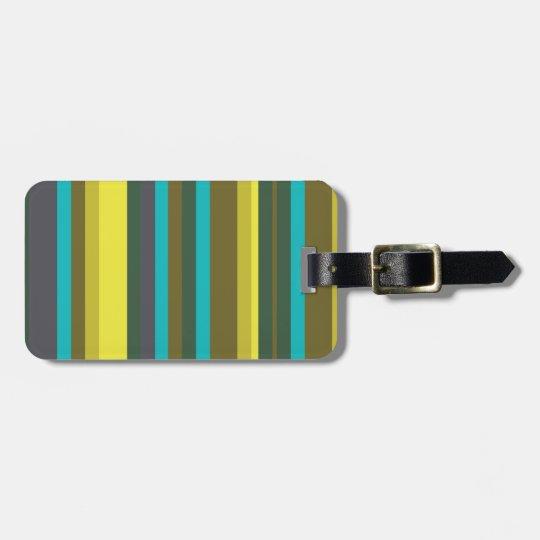 Green_stripes Luggage Tag