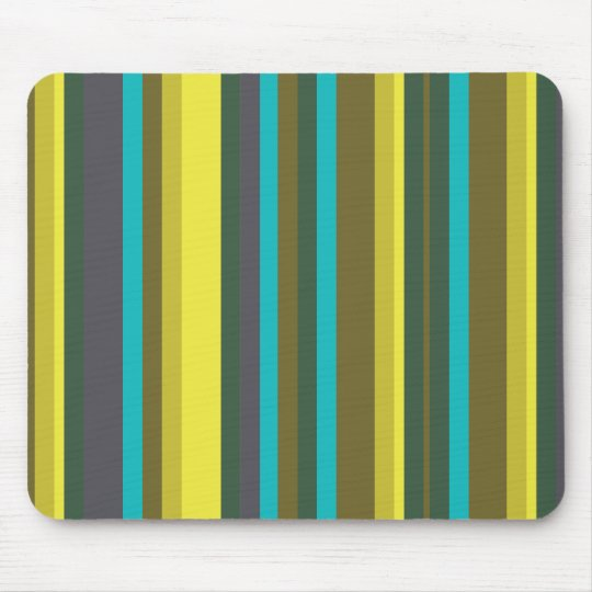 Green_stripes Mouse Pad