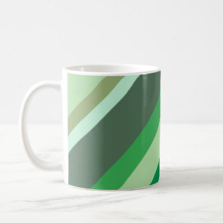 Green stripes mug
