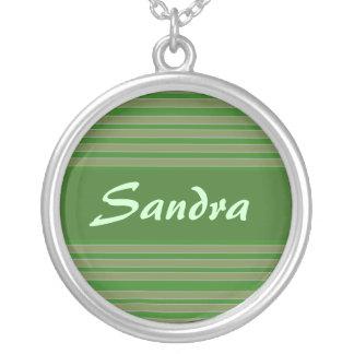 green stripes name custom jewelry