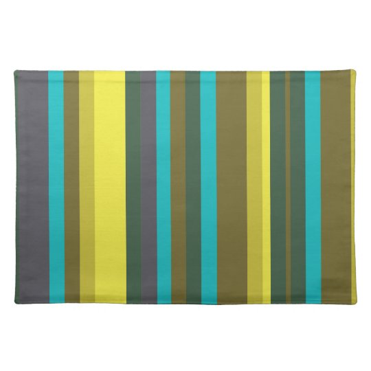 Green_stripes Place Mats