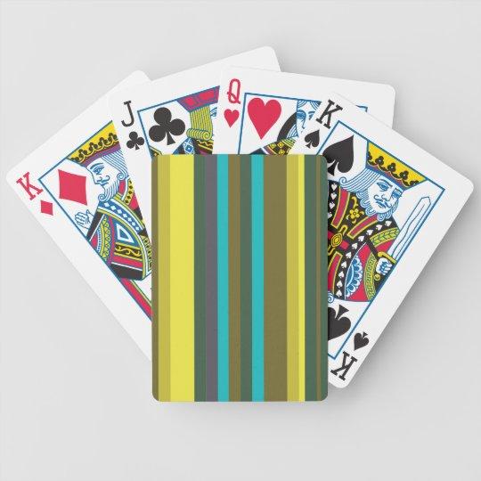 Green_stripes Poker Deck