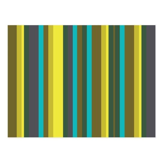 Green_stripes Postcard