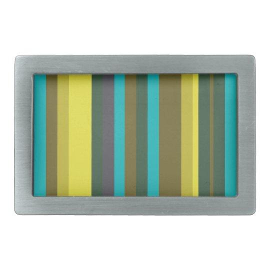 Green_stripes Rectangular Belt Buckles