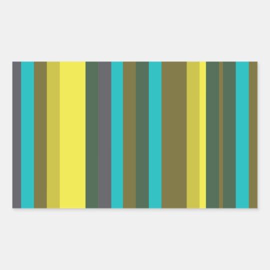 Green_stripes Rectangular Sticker