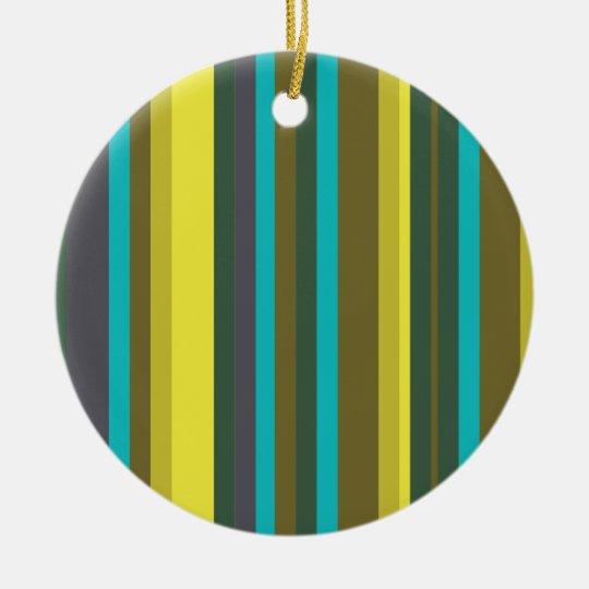 Green_stripes Round Ceramic Decoration