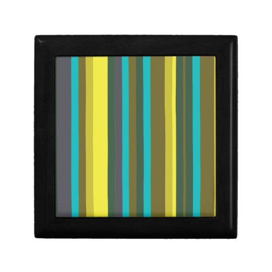 Green_stripes Small Square Gift Box